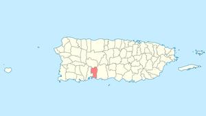 Peñuelas, Puerto Rico - Image: Locator map Puerto Rico Penuelas