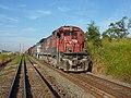 Locomotiva de comboio parado sentido Boa Vista no pátio da Estação Ferroviária de Itu - Variante Boa Vista-Guaianã km 202-203 - panoramio (1).jpg
