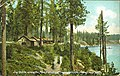 Log cabins at Hayden Lake, near Coeur d'Alene, Idaho, circa 1910 (AL+CA 1517).jpg
