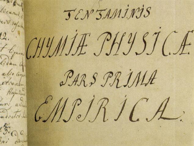 «Введение в истинную физическую химию». Рукопись М.В.Ломоносова. 1752