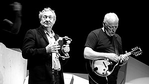 Nick Mason - Mason and guitarist David Gilmour at Roger Waters' The Wall Tour, May 2011