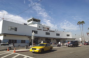 Long Beach Airport - Long Beach Airport's old terminal building from the street.