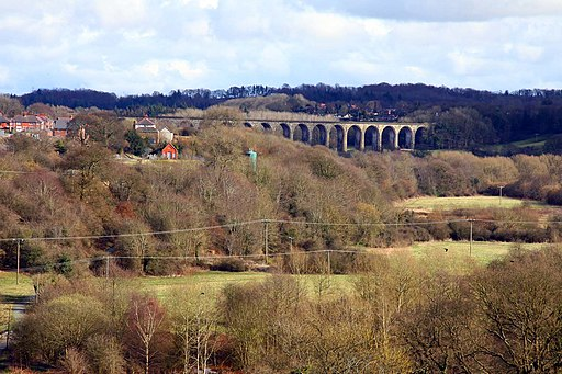 Looking over the Llangollen Valley towards the Cefn-Coed Viaduct - geograph.org.uk - 1800153
