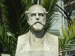 Heptanese School (literature) - Bust of Lorentzos Mavilis in Athens