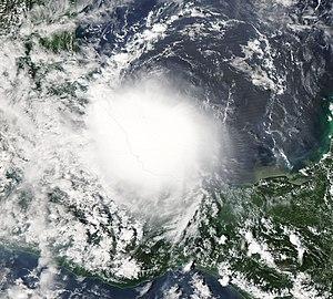 Hurricane Lorenzo - Image: Lorenzo 27 sept 2007 1920Z
