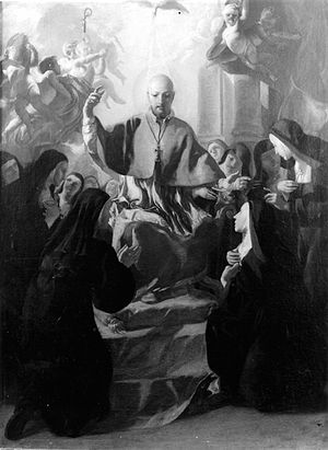 Lorenzo De Caro - Glory of St Francis of Sales, Louvre Museum