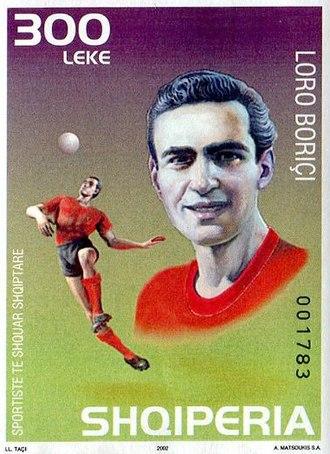 Loro Boriçi - Boriçi on a 2002 stamp of Albania