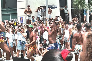an LGBT Pride event held in West Hollywood, California