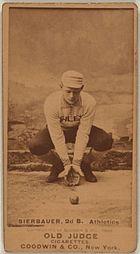 Lou Bierbauer baseball card