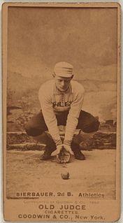 Lou Bierbauer Major League Baseball player