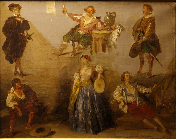 Шесть персонажей Виктора Гюго. Холст, масло. Музей изящных искусств, Дижон