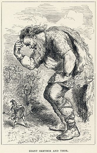 Jötunheimr - Giant Skrymir and Thor by Louis Huard.