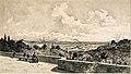 Louis Tauzin - Vue de Paris depuis la terrasse de Meudon (Dessin) (1889).jpg
