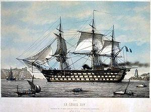 French ship Louis-XIV (1854) - Image: Louis XIV Lebreton