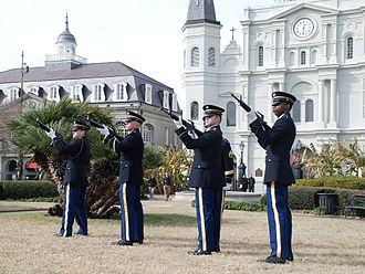 Louisiana National Guard - Image: Louisiana Honor Guard Commemorates the Battle of New Orleans