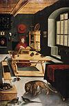 Lucas Cranach the Elder  - Cardinal Albrecht von Brandenburg as Hieronymus in the case (Hessisches Landesmuseum) .jpg