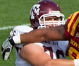 Luke Joeckel - Joeckel with the Texas A&M Aggies in 2011