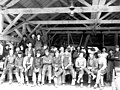 Lumber crew group portrait inside building, Snohomish County, ca 1913 (PICKETT 241).jpeg