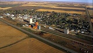 Luseland Town in Saskatchewan, Canada