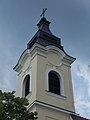 Lutheran church (1787), tower, 2018 Oroszlány.jpg
