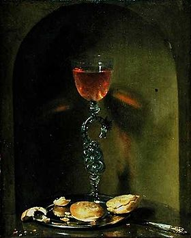 Luttichuys, Isaac - Still Life with Bread and Wine Glass - 17th c.jpg