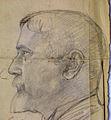 M-Renée Ucciani 1932, buste de P. Ucciani, dessin préparatoire, bas-relief de profil.jpeg
