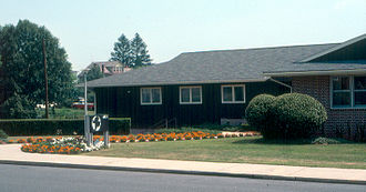 Mennonite Central Committee - Akron, Pennsylvania, headquarters, August 1982.