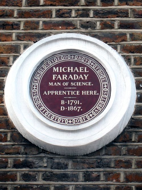 Michael faraday man of science. apprentice here. b.1791d.1867