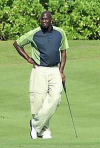Michael Jordan nel 2007 durante una partita di golf, uno dei suoi hobby preferiti.