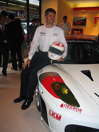 Matthew Marsh (racing driver) - Matthew Marsh with the Ferrari 430 he would race at Le Mans 2007.