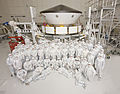 MSL spacecraft in JPL Spacecraft Assembly Facility with ATLO team members.jpg