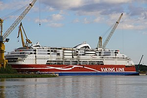 MS Viking Grace, Pernon telakka, Hahdenniemen venesatama, Raisio, 11.8.2012 (7).JPG