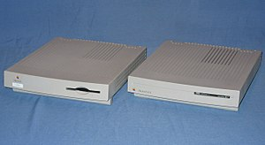 Macintosh LC II - Front view of the manual-inject (left) and auto-inject (right) bezels of the LC II.