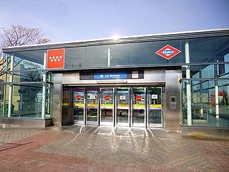 La Granja (Madrid Metro) - Image: Madrid Estación de La Granja 3
