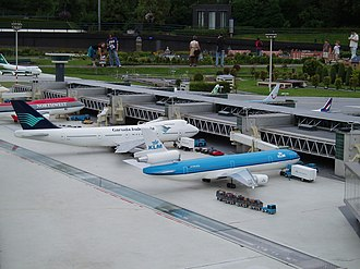 Madurodam - Miniature planes at the model of Schiphol airport in 2007