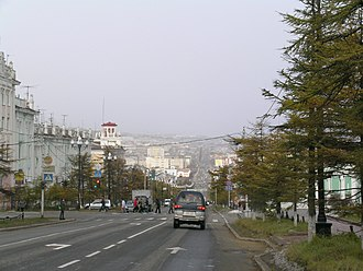 Magadan - Lenin Street, Magadan