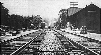 Magnolia, West Virginia - Photo of Magnolia Station (1906-1910)