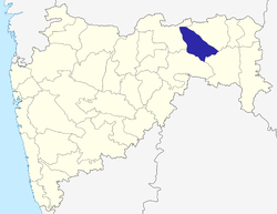 Location of Wardha district in Maharashtra