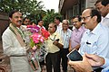 Mahesh Sharma Being Greeted By Anil Shrikrishna Manekar With NCSM Senior Officers - NCSM - Kolkata 2017-07-11 3403.JPG