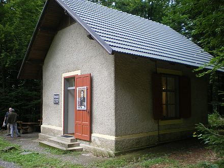 Mahler's second composing hut, at Maiernigg (near Klagenfurt), on the shores of the Worthersee in Carinthia Mahler Composition Hut Klagenfurt.jpg