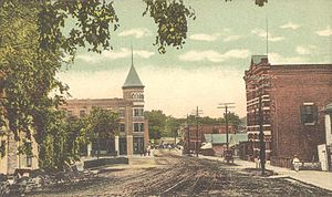 Middlebury, Vermont - Main Street in 1908