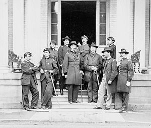 Charles Devens - General Charles Devens (center) and other officers in Richmond, Virginia, April, 1865.
