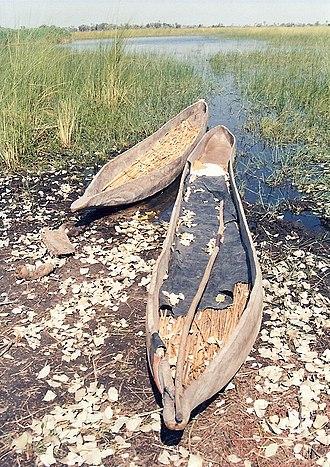 Mokoro - Two wooden mekoro