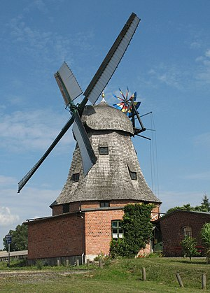 Malchow - Windmill in Malchow