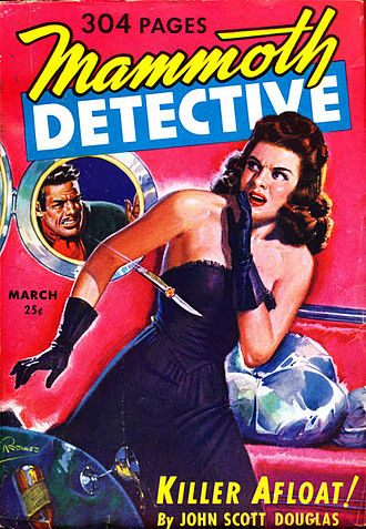 "Leigh Brackett - Brackett's first detective story, ""Murder in the Family"", was published in Mammoth Detective in 1943."