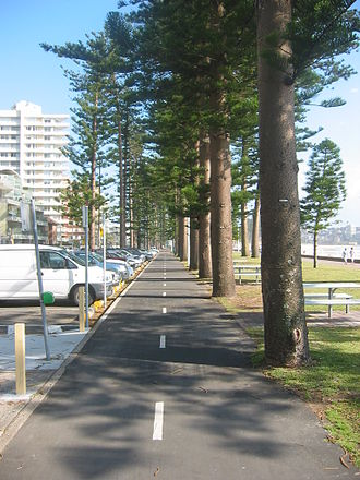 Manly Beach - Image: Manly Beach cyclepath