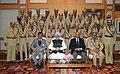 Manmohan Singh, in New Delhi on December 30, 2011. The National Security Advisor, Shri Shivshankar Menon and the Union Home Secretary, Shri R.K. Singh are also seen.jpg