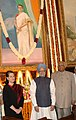 Manmohan Singh, the Speaker, Lok Sabha, Shri Somnath Chatterjee and the Chairperson, UPA, Smt. Sonia Gandhi paid tributes at the portrait of the former Prime Minister.jpg