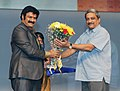 Manohar Parrikar felicitating the Chief Guest, Actor Shri Nandamuri Balkrishna, at the closing ceremony of the 43rd International Film Festival of India (IFFI-2012), in Panaji, Goa on November 30, 2012.jpg