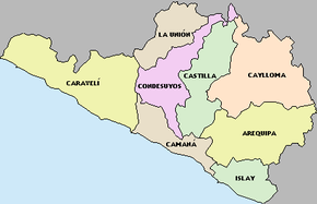 Map-Provinces of Arequipa region.PNG